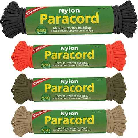 Coghlan's Nylon Paracord, 50' Commercial 550 Cord, Survival Emergency