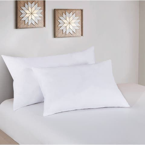 Microgel Medium Comfort Down Alternative Bed Pillow Twin Pack - White