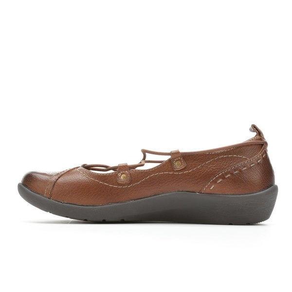 EARTH ORIGINS Womens LONDON Leather Round Toe Ballet Flats - 9