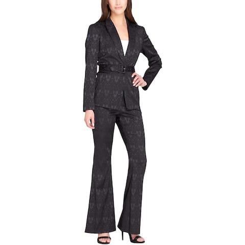 Tahari ASL Womens Pant Suit Floral Print Business