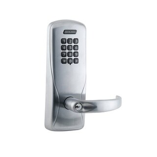 Schlage CO-100-CY-70-KP-SPA CO-Series Commercial Electronic Cylindrical Lock with Keypad and Sparta Lever