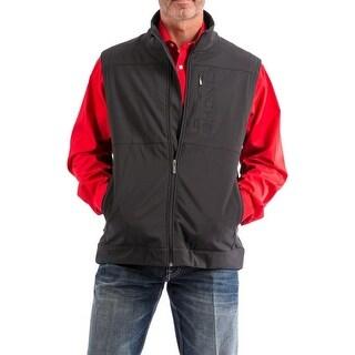 Cinch Western Vest Mens Zipper Pockets Bonded Conceal Black