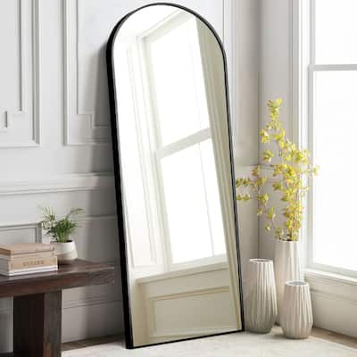 Arched Metal Mirror Full-length Floor Mirror with Standing