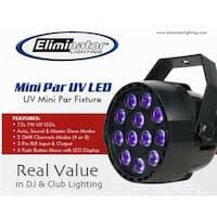 Eliminator Lighting Mini Par UV LED 12-1W UV LED Light