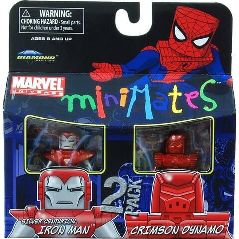 Marvel Minimates Series 36 Silver Centurion Iron Man & Crimson Dynamo - Multi
