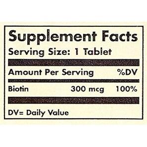 Solgar Biotin 300 Mcg Tablets 100
