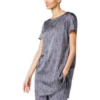 Eileen Fisher Womens Petites Tunic Top Silk Printed (2 options available)