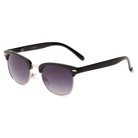 Readers.com The Everglade Bifocal Reading Sunglasses Browline Reading Glasses