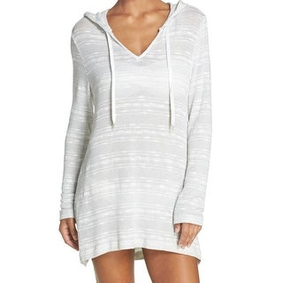 La Blanca NEW White Womens Size XL Hooded V-Neck Knitted Tunic Sweater