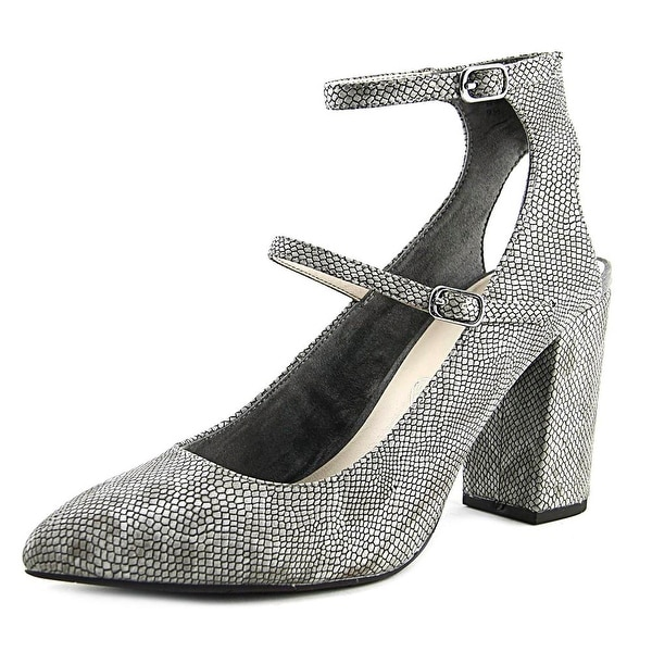 BC Footwear Smolder Women Pointed Toe Synthetic Gray Mary Janes