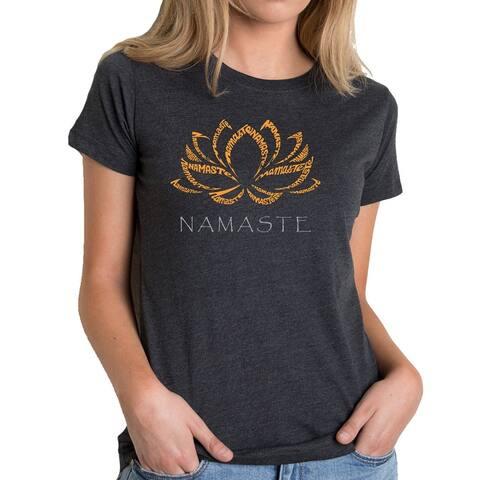 Women's Premium Blend Word Art T-shirt - Namaste