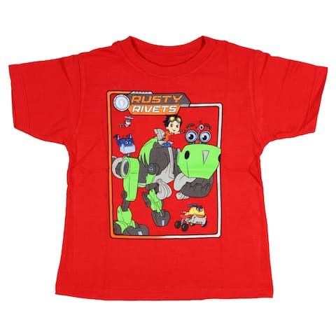 Rusty Rivets Little Boys' Retro Frame Graphic T-shirt
