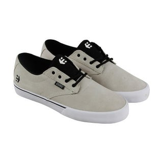 Etnies Jameson Vulc Mens Beige Canvas Lace Up Sneakers Shoes
