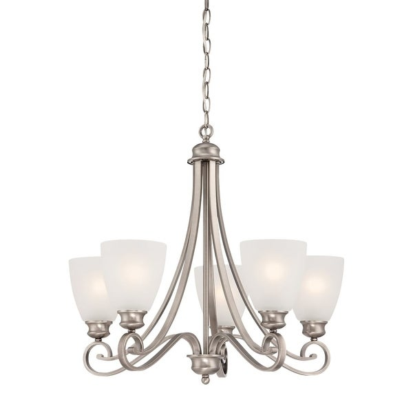 Thomas Lighting Tk0017 Haven 5 Light 24 Wide Chandelier With Gl Shades