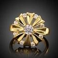 Blossoming Gold Crystal Ring - Thumbnail 1