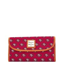 Dooney & Bourke NFL San Francisco 49ers Continental Clutch Wallet (Introduced by Dooney & Bourke at $128 in Aug 2016)
