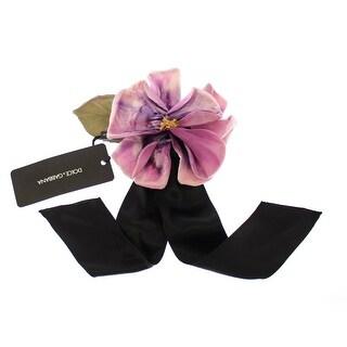 Dolce & Gabbana Pink Silk Flower Runway Brooch