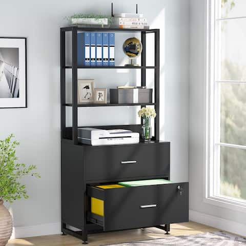 Large File Cabinet, Vertical Filing Cabinet with Lock for Letter/ Legal/ A4 Size