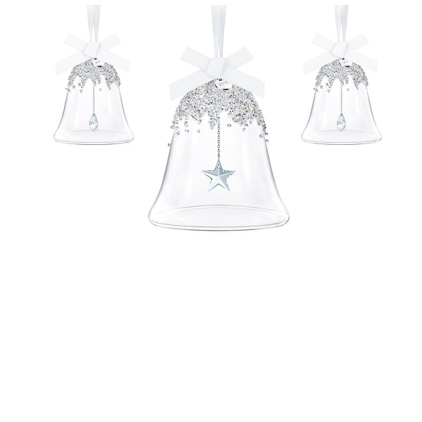Swarovski Christmas Bell Ornaments Set of 3 Annual Edition 2016 Model 5223283