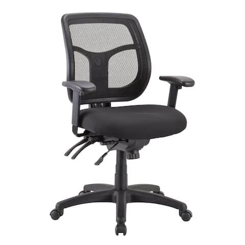 Eurotech Seating Apollo Ergonomic Task Chair, Black, Mid Back