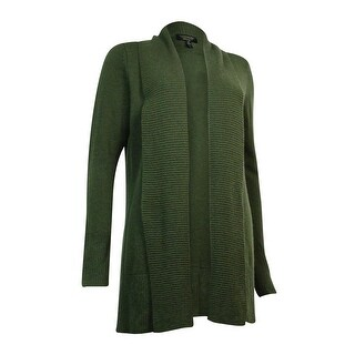 Charter Club Women's Ribbed Knit Cashmere Cardigan - l