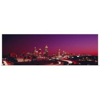 """Georgia, Atlanta, night"" Poster Print"