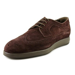 Hogan H209 Dress X Rest. Derby Bucat Youth Round Toe Leather Brown Oxford
