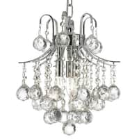 French Empire Crystal Chandelier Silver 3 Lights