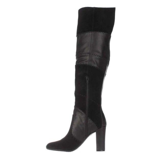 Bar III Womens Naomi Leather Pointed Toe Knee High Fashion Boots Fashion Boots