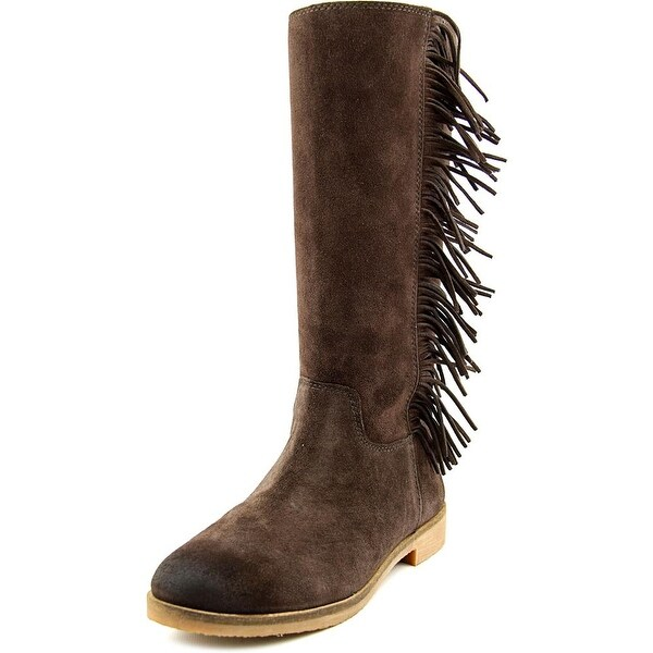 Lucky Brand Grayer Women Round Toe Suede Brown Mid Calf Boot