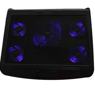 "Image 5 Fans Laptop Cooling Pad Cooler for 10-17"" Notebook Laptop w/ Extra USB Port"