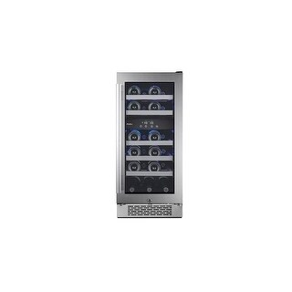 Avallon AWC151DZRH 15 Inch Wide 23 Bottle Capacity Dual Zone Wine Cooler with Right Swing Door