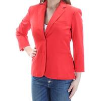 Womens Red Wear To Work Blazer Jacket  Size  4