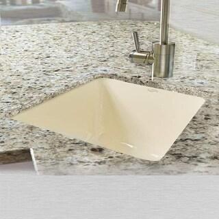 """Miseno MCI28-0UM 16"""" Single Basin Undermount Cast Iron Kitchen Sink"""