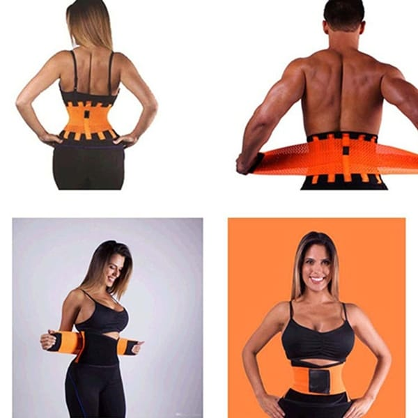 Women's Men's Sports Adjustable Breathable Waist Back Support Waist Cincher