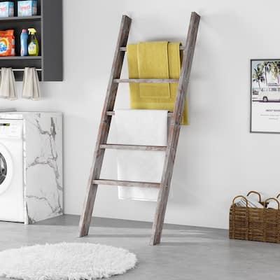 "55"" Blanket Ladder Rustic Style Decorative"
