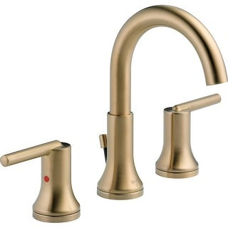 Delta 3559-MPU Trinsic Widespread Bathroom Faucet with Pop-Up Drain Assembly - Includes Lifetime Warranty