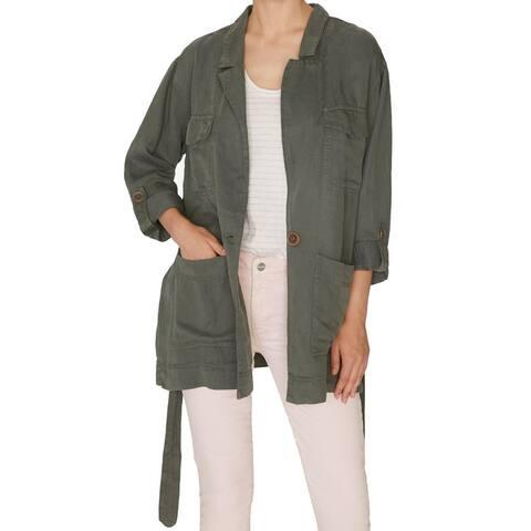 Sanctuary Women's Jacket Military Green Size XS Safe Travels Utlity