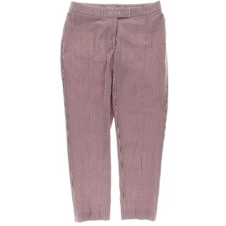 Anne Klein Womens Casual Pants Striped Regular Fit