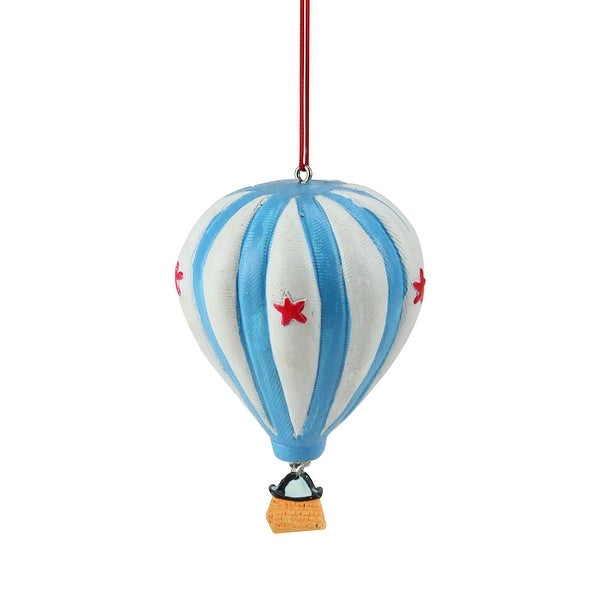 "3.5"" Novelty Colorful Star Hot Air Balloon Christmas Ornament"