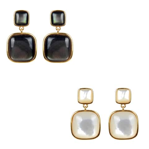 Gold Over Sterling Silver Choice Of Gemstone Dangle Earrings
