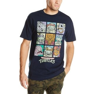 Teenage Mutant Ninja Turtles Men's Family Squares Portrait Vintage T-Shirt