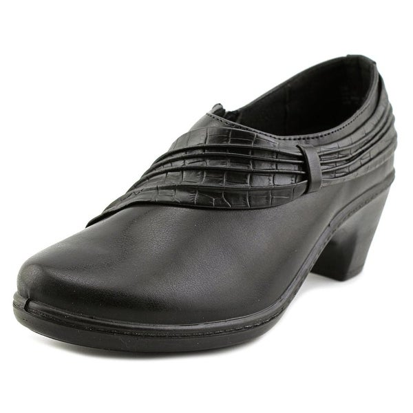 Easy Street Northern Women N/S Round Toe Leather Black Bootie
