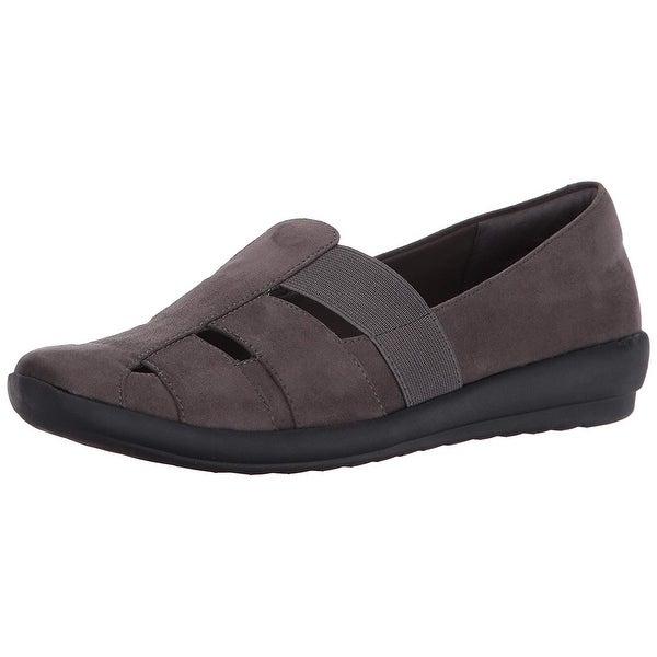 Easy Spirit Womens Alani Fabric Closed Toe Loafers