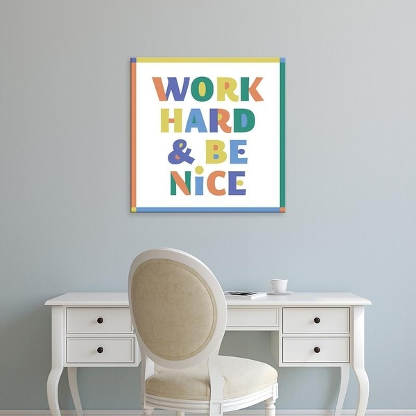 Easy Art Prints 'Work Hard & Be Nice' Premium Canvas Art