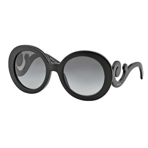 Prada PR 27NSA 1AB3M1 55 Gloss Black Woman Round Sunglasses