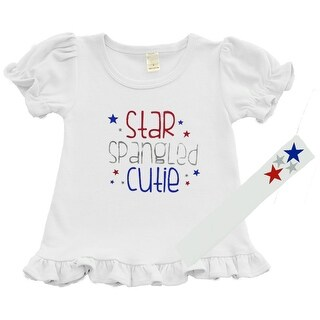 Girls Patriotic Outfit - Star Spangled Cutie