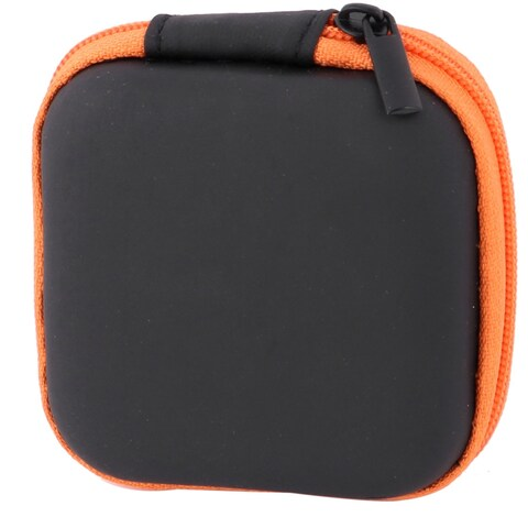 Outdoor Square Earphone Headset Earbuds Cable Carrying Holder Case Pouch Orange