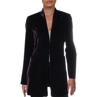 Link to Elie Tahari Womens Antoinette Collarless Blazer Velvet Suit Separate Similar Items in Suits & Suit Separates