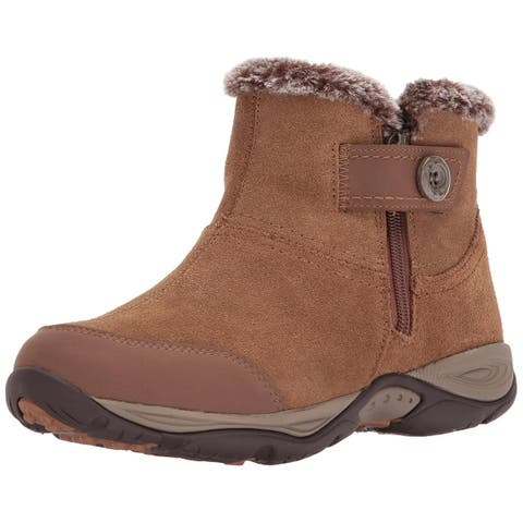 83a9ebf4f623 Easy Spirit Womens eliria Fabric Closed Toe Ankle Cold Weather Boots